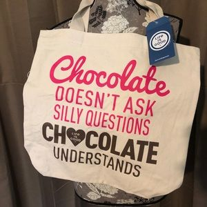 Life Is Good Chocolate Understands Tote NWT